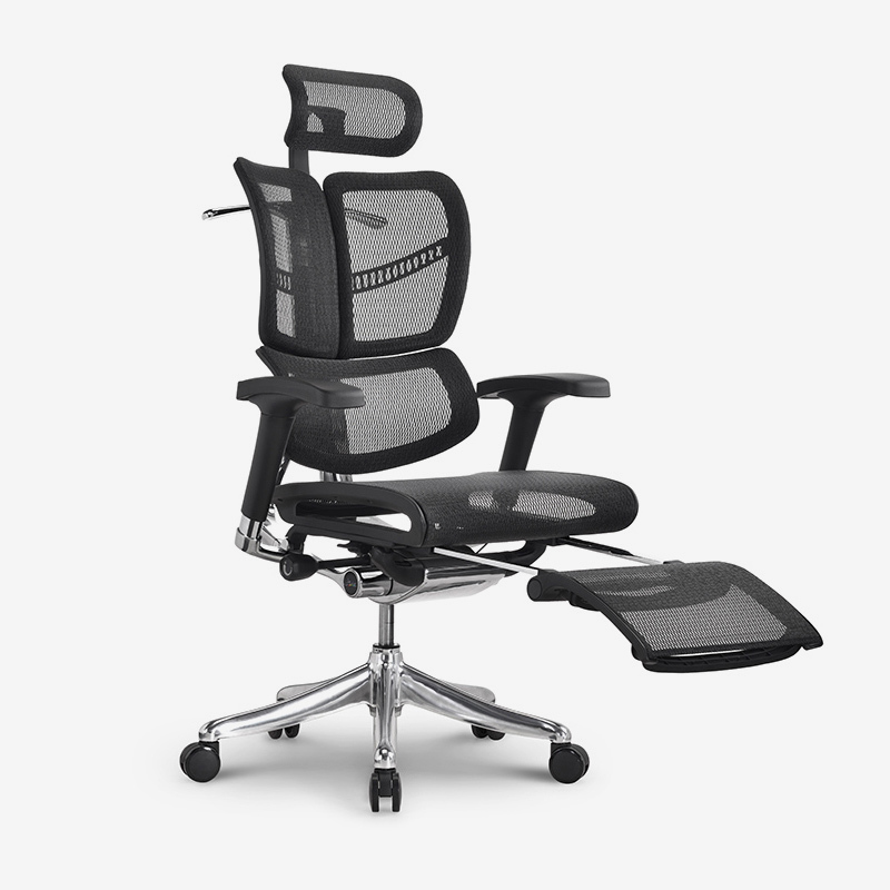 Fly unique design Luxury  ergonomic executive chair with footrest RFYM01